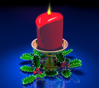 Christmas Pilar Candle