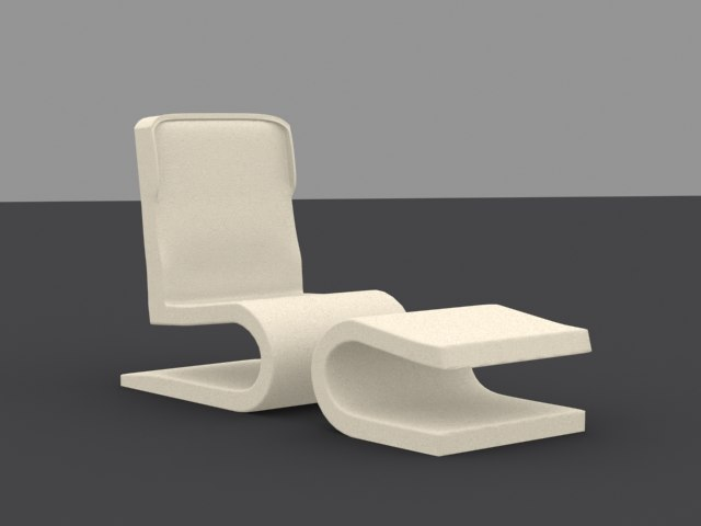 3ds max leather tv seat