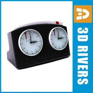 3ds max chess clock