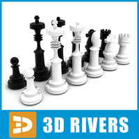 Chess pieces 01 by 3DRivers