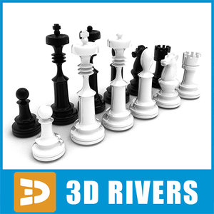 chess pieces 3d max