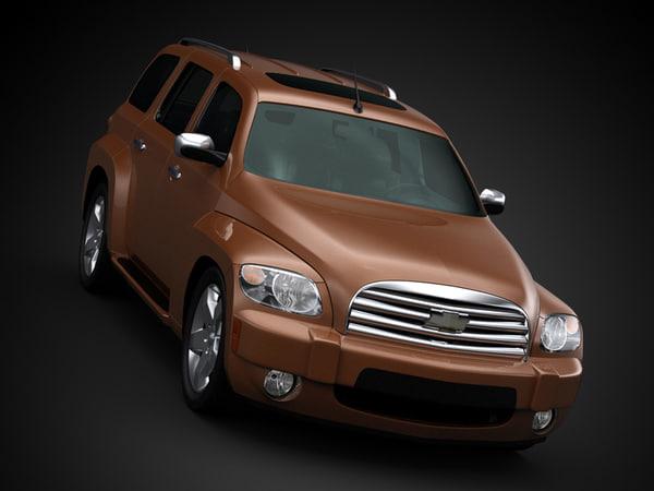 3d car architecture visualization model