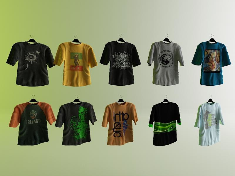 cloth tshirt shirt 3d model