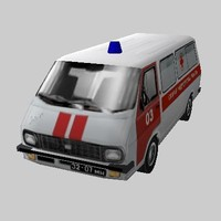 Soviet and Latvian Ambulance RAF 22031