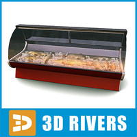 display freezer fish 3d obj