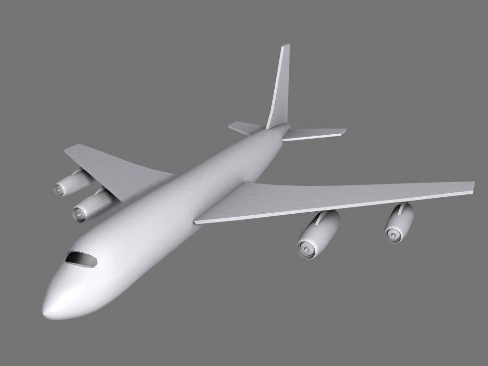 low-poly passenger jet airliner 3d 3ds