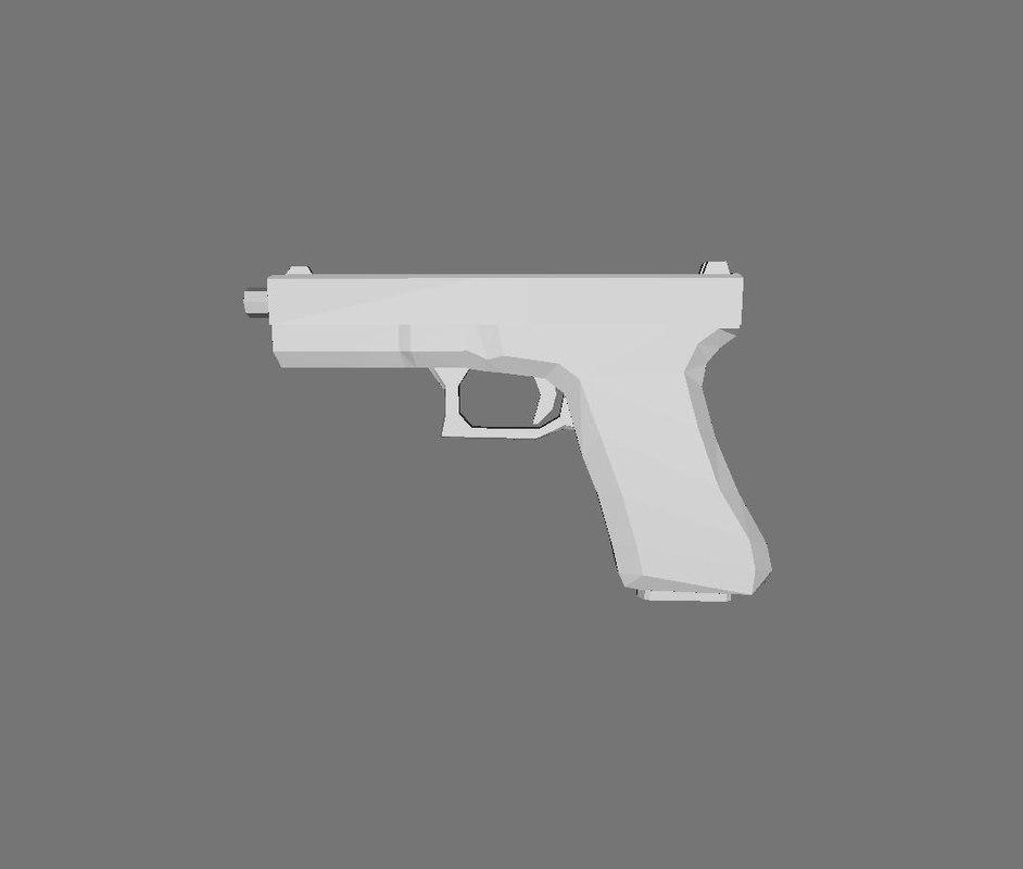ready glock 17 3d model