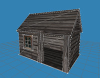 house hut shed 3ds