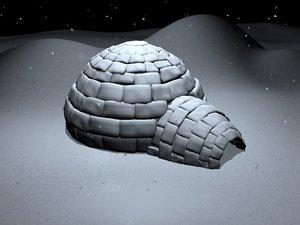 3d igloo snow