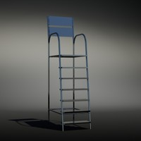 3d life gaurd chair model