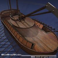 3d model leonardo assault battleship ship