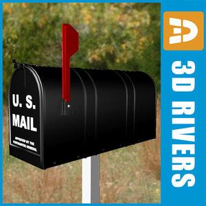 3dsmax metallic mail box mailbox
