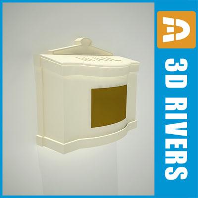 free door mail 03 box 3d model