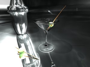 martini pimento olives 3d model
