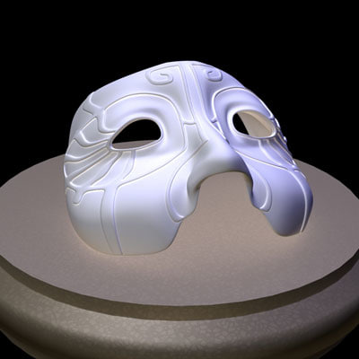 carnival mask 3d 3ds