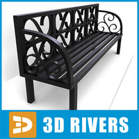 Metallic bench by 3DRivers