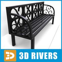3ds max bench metallic