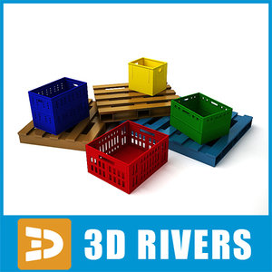 3ds max pallets boxes