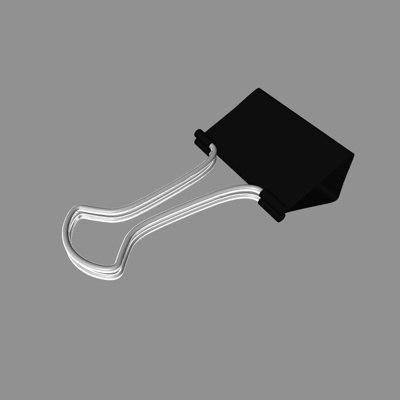 free c4d model paper-clip