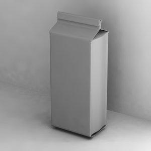 3d pasta box model
