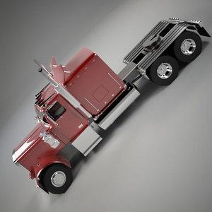 3d model semi truck car