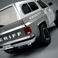 3d 3ds k truck sheriff