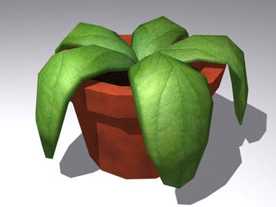 3d model plant leaves leaf