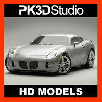 3d pontiac solstice coupe model