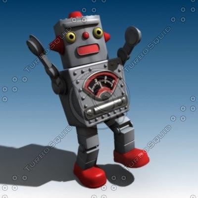 3d model old robot