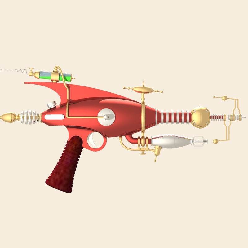 raygun gun 3d dwg