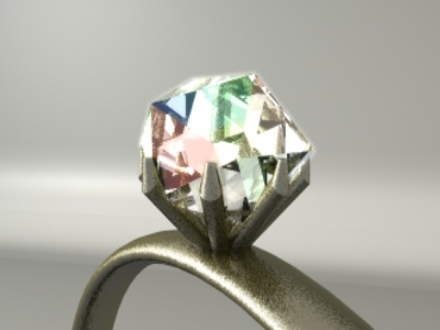 3d model diamond ring