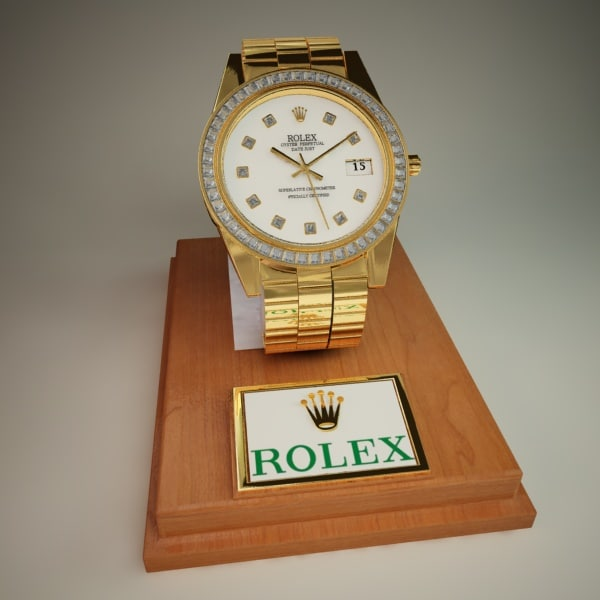 3d 3ds rolex watch