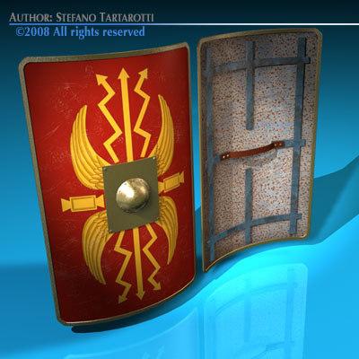 roman shield 3d 3ds