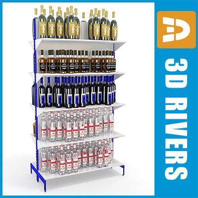 3d model alcohol