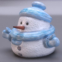 snowman figure christmas 3d model