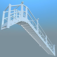 3d model 2x stairs