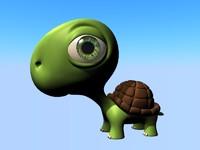 cute turtle 3d model