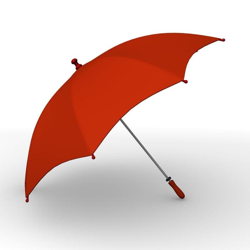 3d model of umbrella