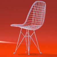 3d eames wire chair model