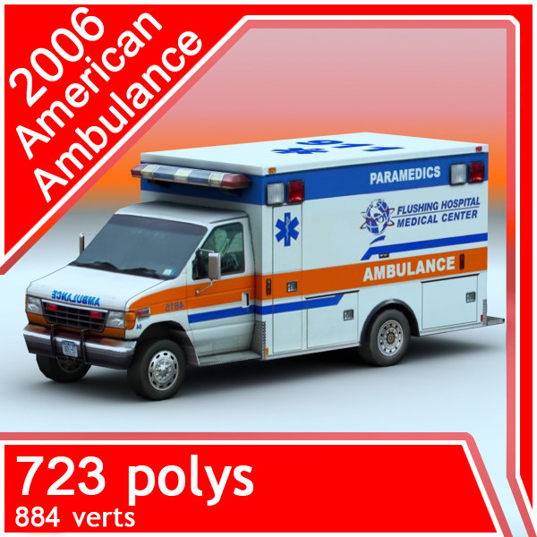 2006 american ambulance 3d max