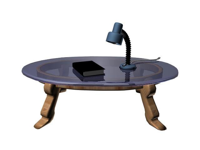 table book lamp 3d model