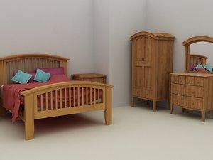 3d nimbus bed bedroom furniture model