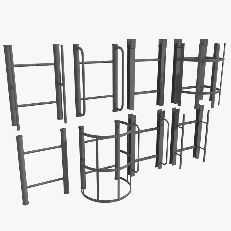ladder set 1 3d model
