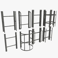 ladder set 1 3d model