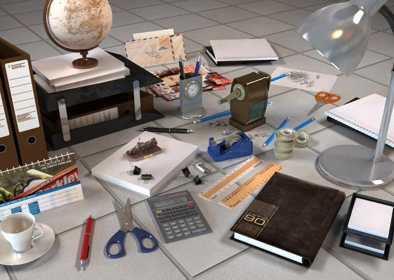 3d model office clutter vol 2