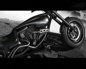 custom chopper c4d
