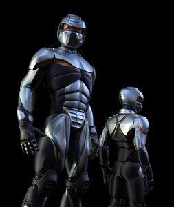cyborg robot 3d max