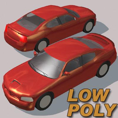 3d luxury sedan car games model