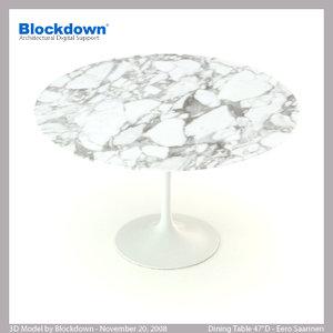 3d model eero saarinen table