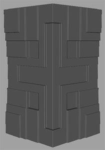 textile block frank lloyd 3d model